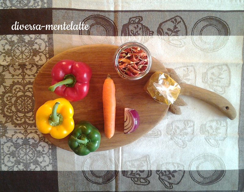 Ingredienti curry di verdure miste