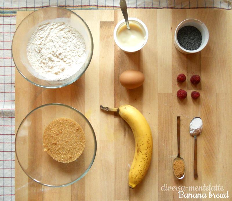 Ingredienti banana bread no lattosio