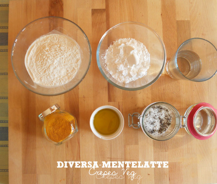Ingredienti crepes veg