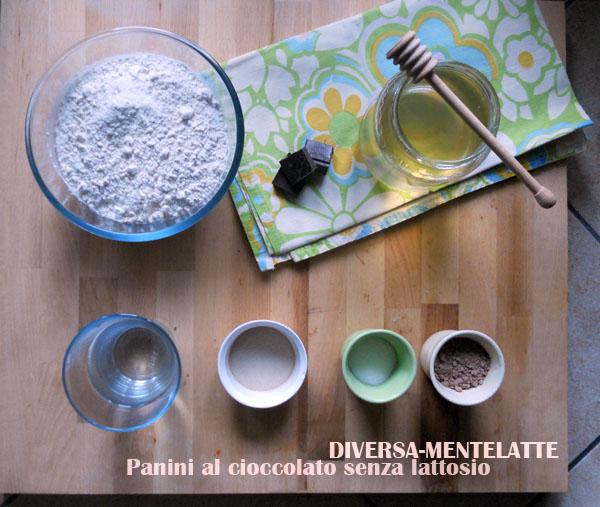 Ingredienti panini al cioccolato
