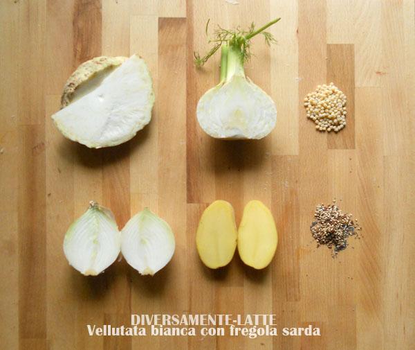 Ingredienti vellutata sedano rapa