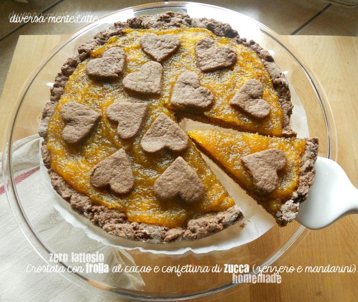 Crostata con frolla al cacao e confettura di zucca