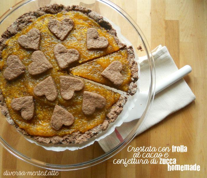 Crostata frolla al cacao e confettura di zucca