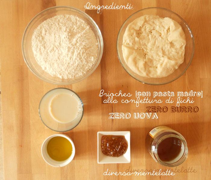 Ingredienti brioches con pasta-madre zero burro zero uova