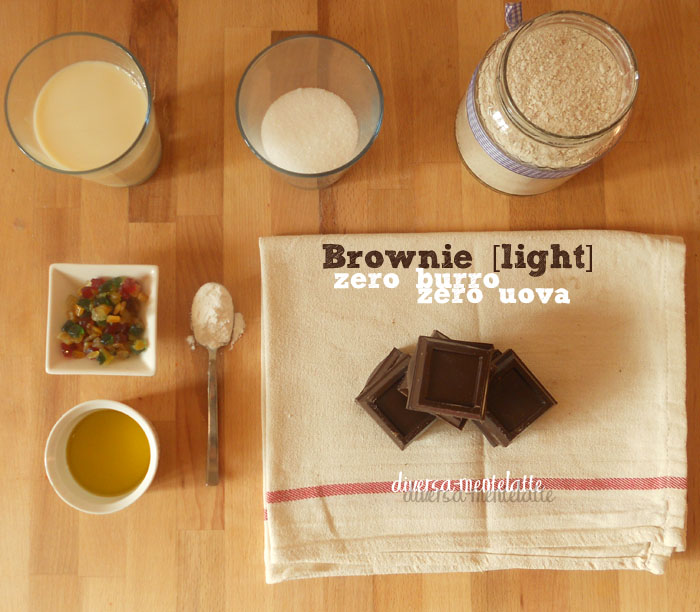 Ingredienti brownie zero burro zero uova