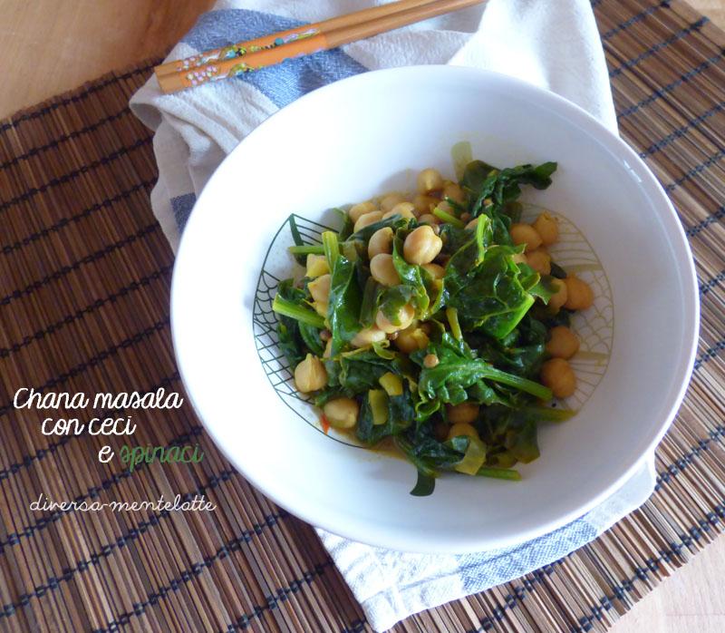Chana masala ceci e spinaci