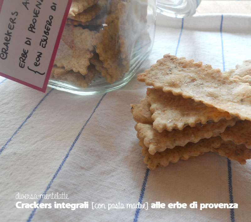 Crackers integrali alle erbe di provenza