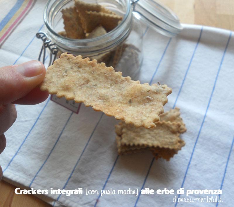 Crackers integrali con pasta madre