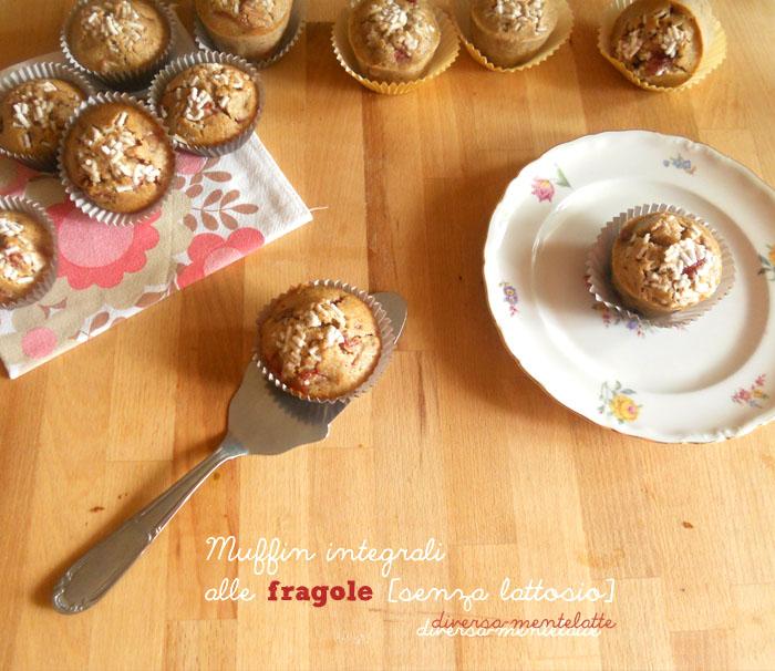 Muffin integrali alle fragole senza burro