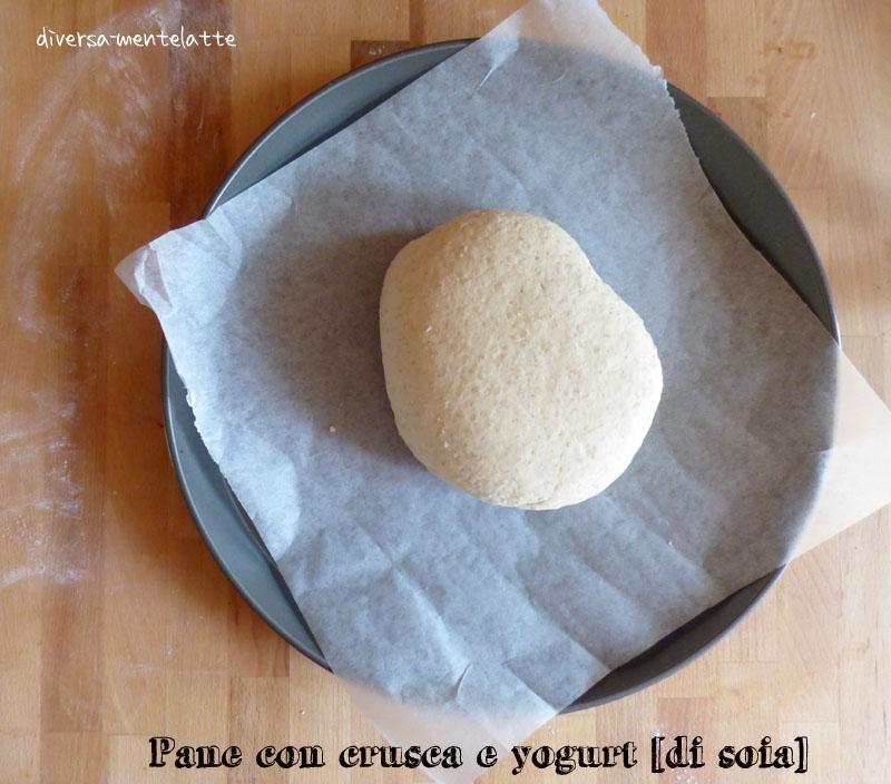 Pane con crusca in lievitazione