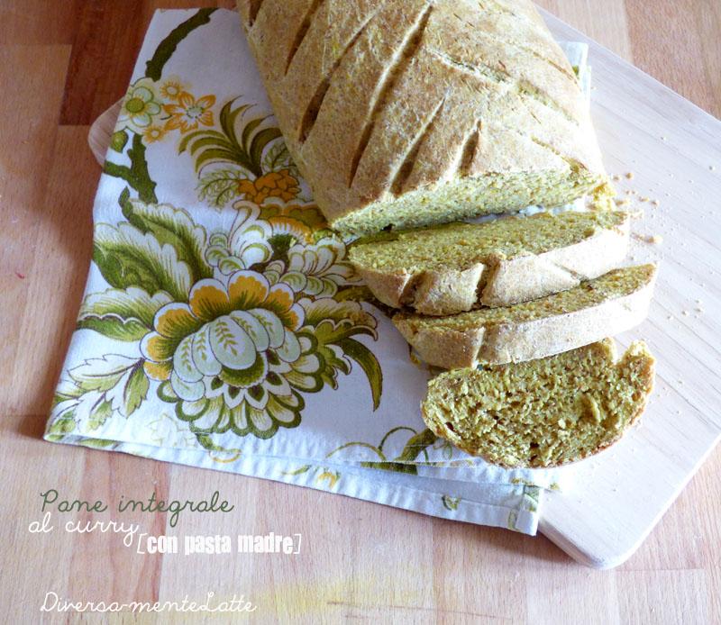 Pane integrale al curry con pasta madre