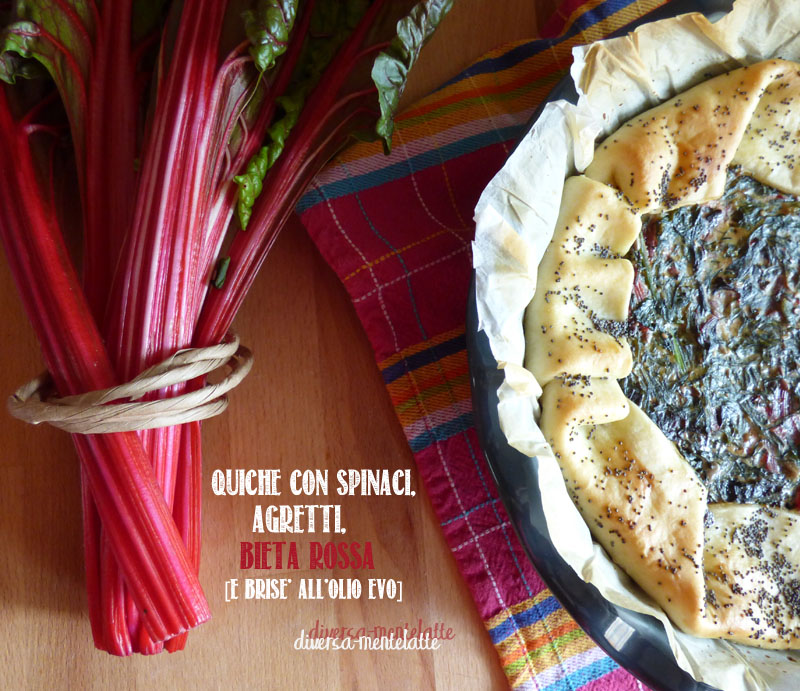Quiche con spinaci agretti bieta