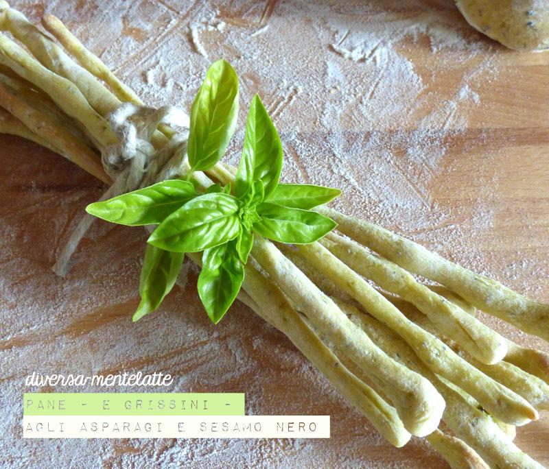 Pane e grissini agli asparagi