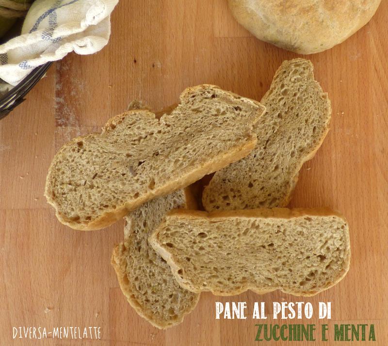 Pane al pesto di zucchine e menta