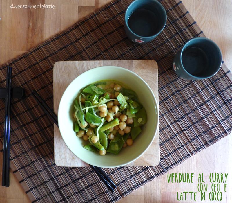Verdure miste al curry con ceci e latte di cocco