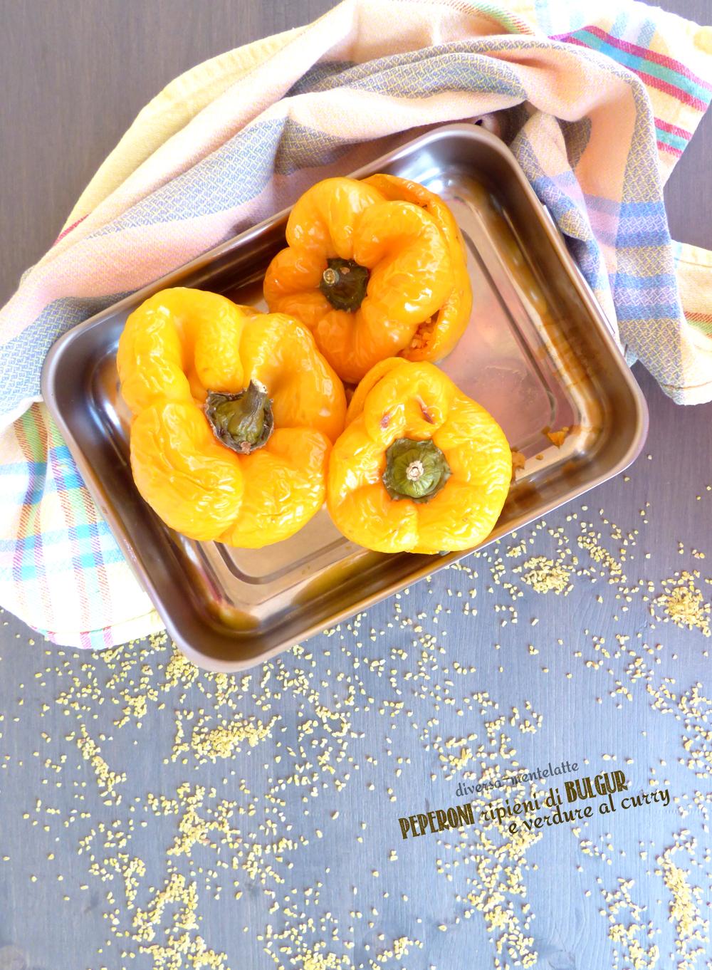 peperoni ripieni con bulgur e verdure