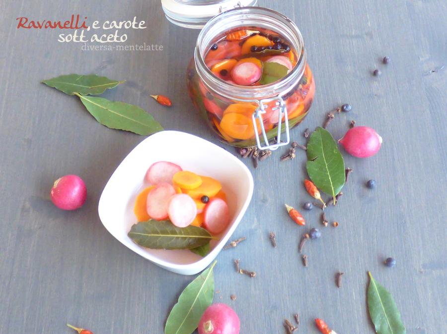 ravanelli carote sotto aceto con aromi