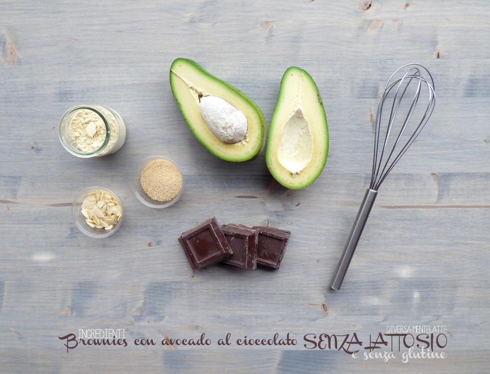 ingredienti brownies con avocado