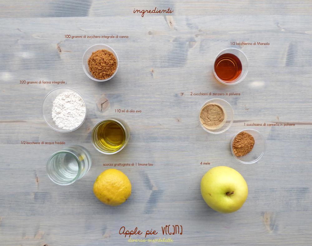 ingredienti apple pie vegana