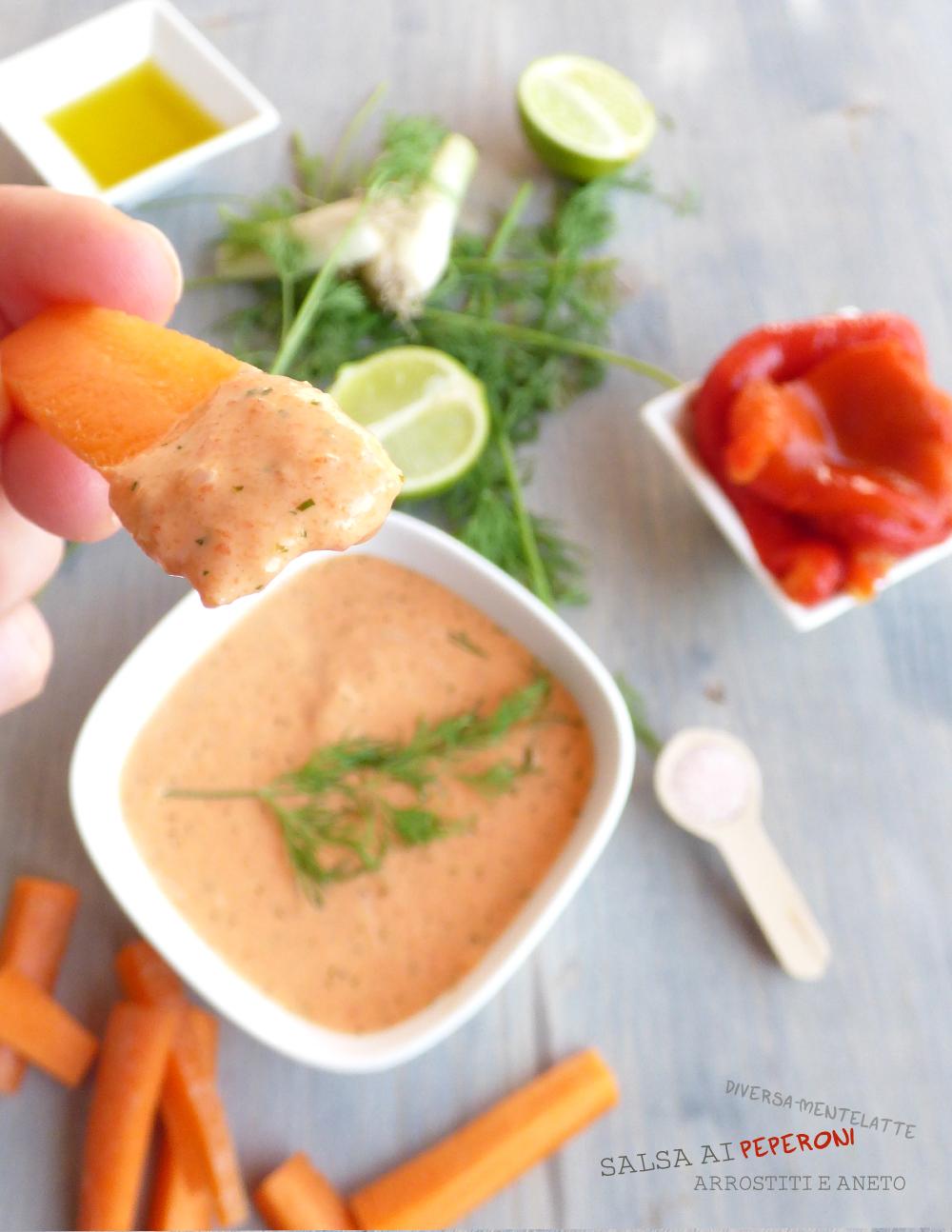 salsa ai peperoni per pinzimonio