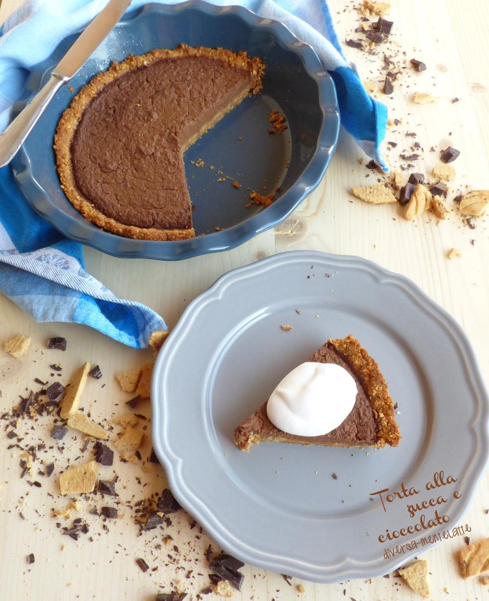torta zucca e cioccolato con panna vegetale