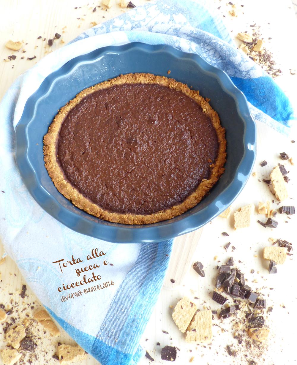 torta zucca e cioccolato senza latticini