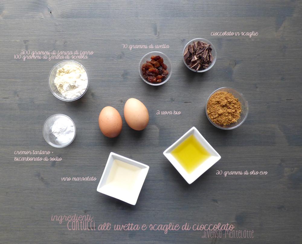 ingredienti cantucci con all uvetta