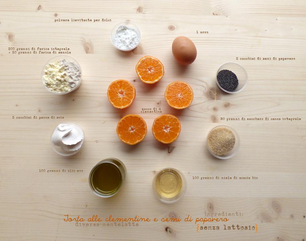 ingredienti torta clementine con semi di papavero