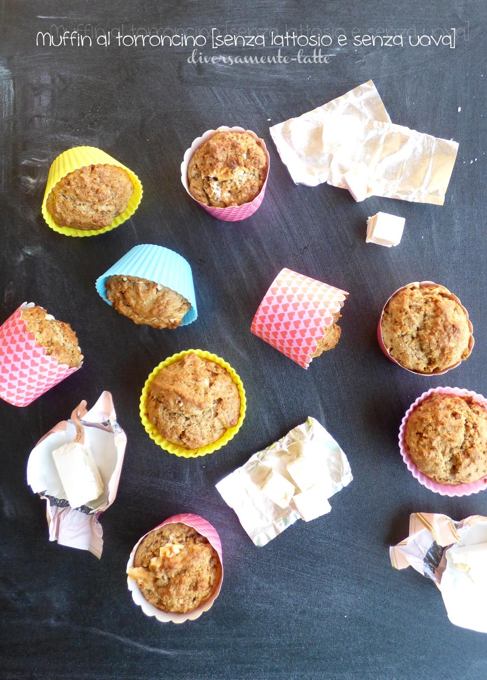 muffin al torroncino senza lattosio
