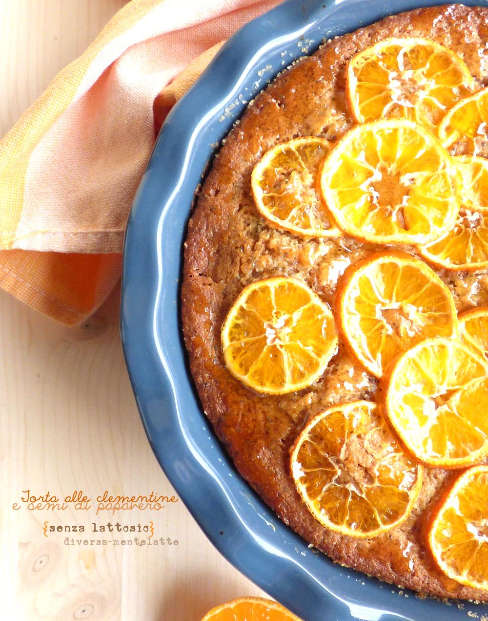 torta con clementine senza lattosio