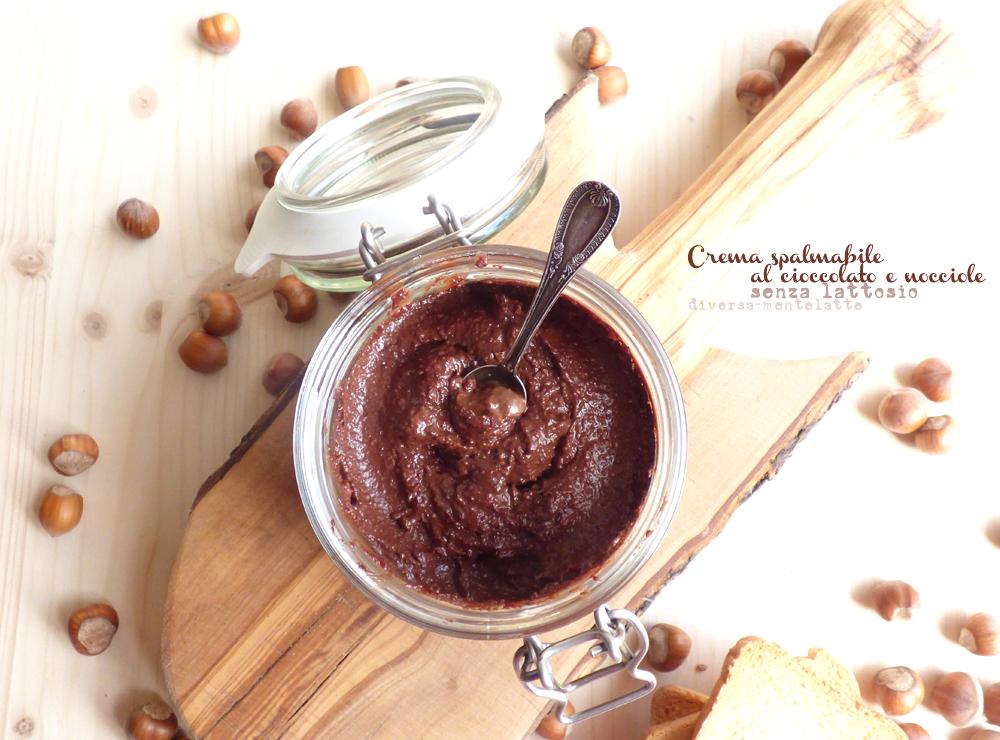 crema spalmabile al cioccolato e nocciole lactose free