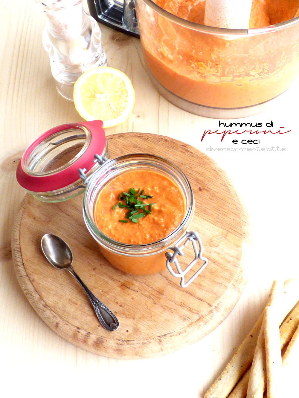 hummus con peperoni