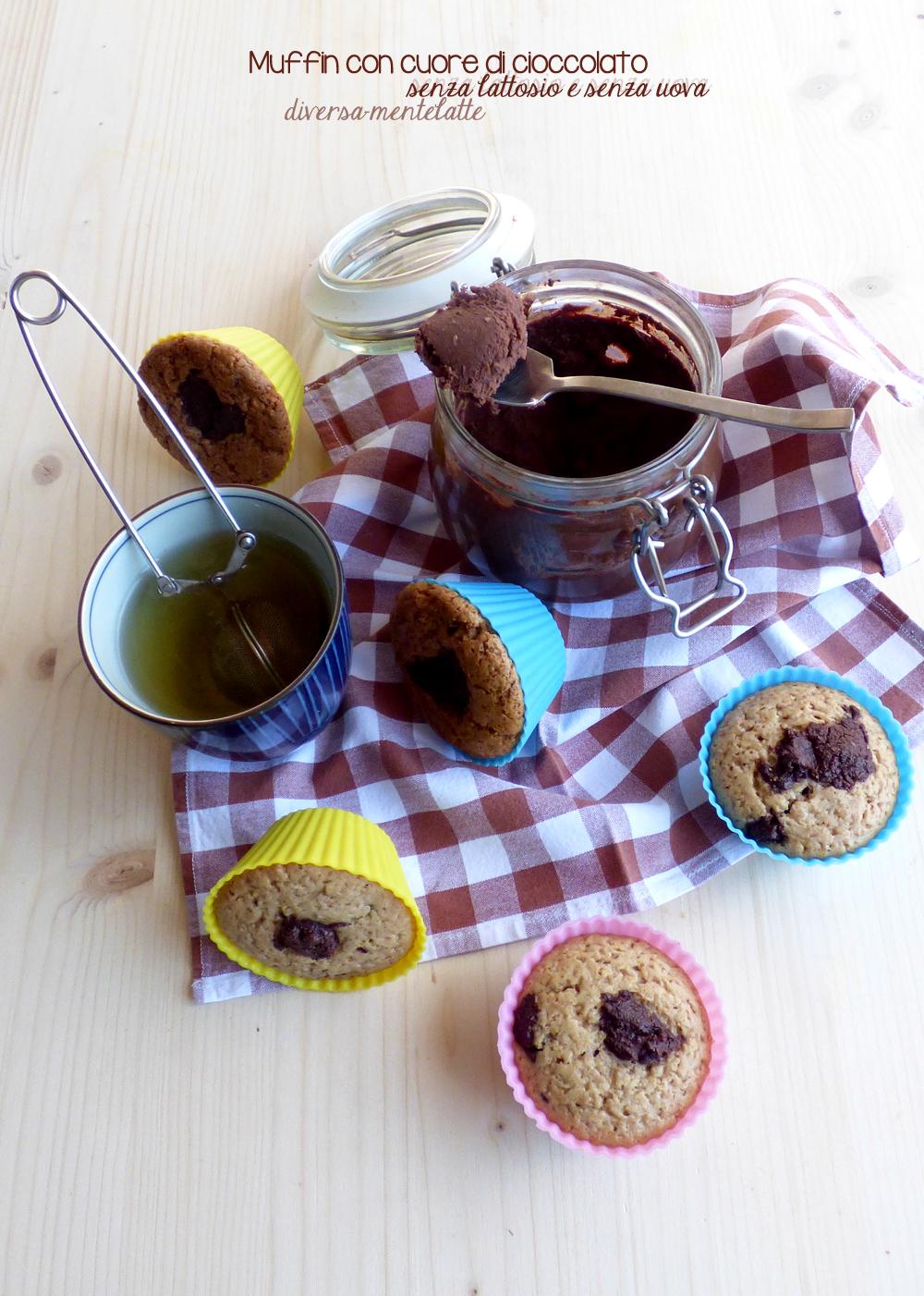 muffin con cuore di cioccolato-senza lattosio senza uova