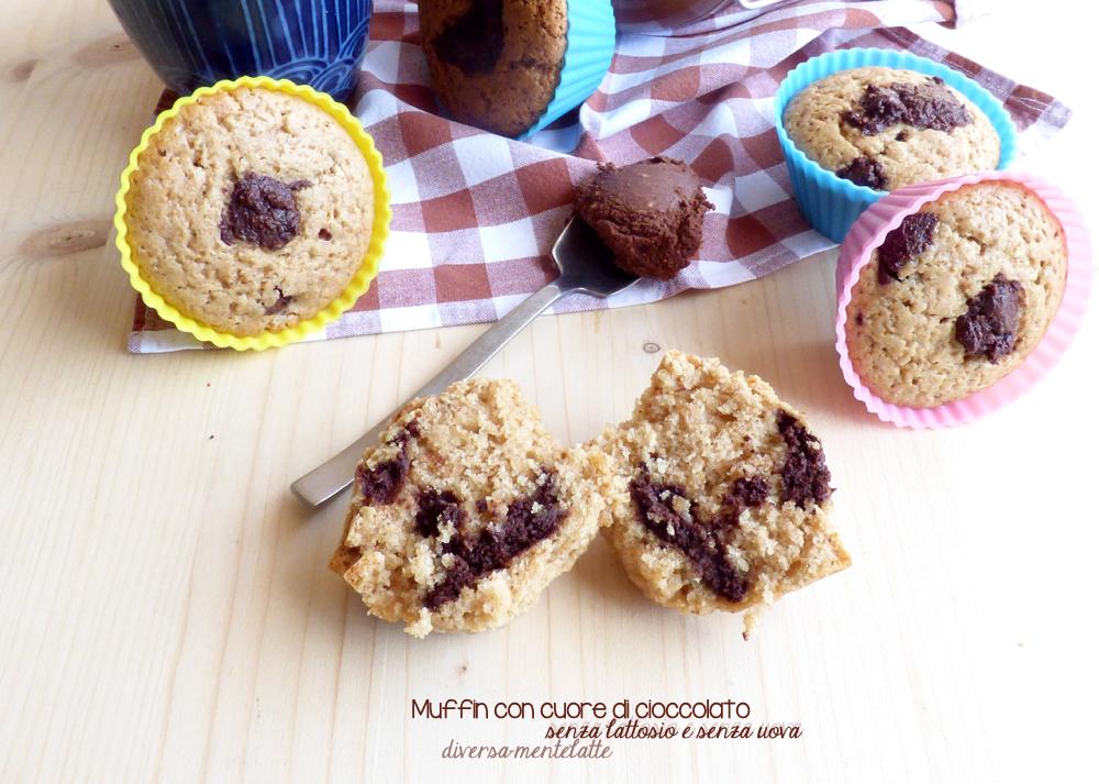 muffin senza lattosio e senza uova