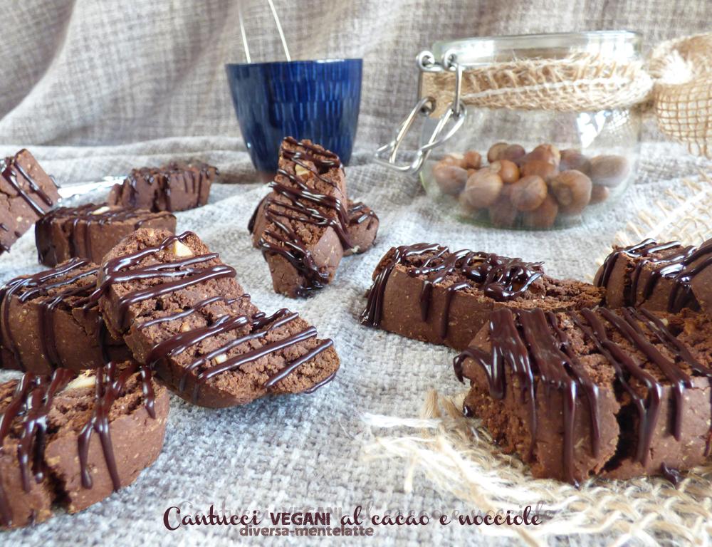 cantucci vegani al cacao e nocciole