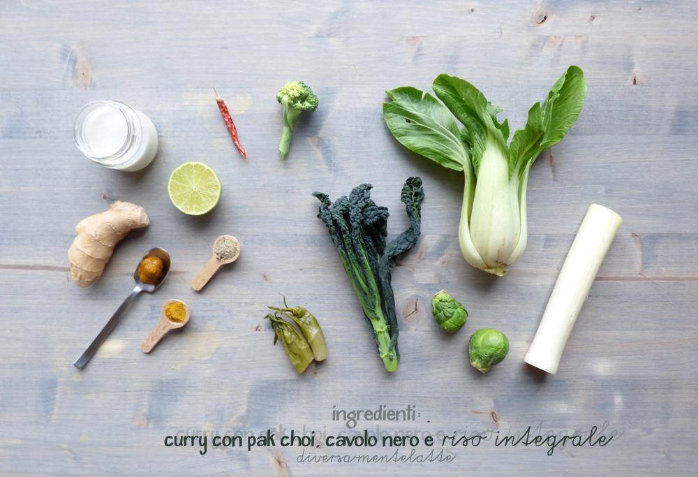 ingredienti curry con pak choi cavolo nero