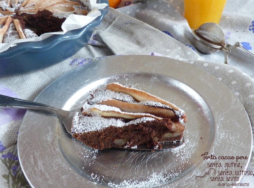 torta cacao pere senza glutine senza lattosio
