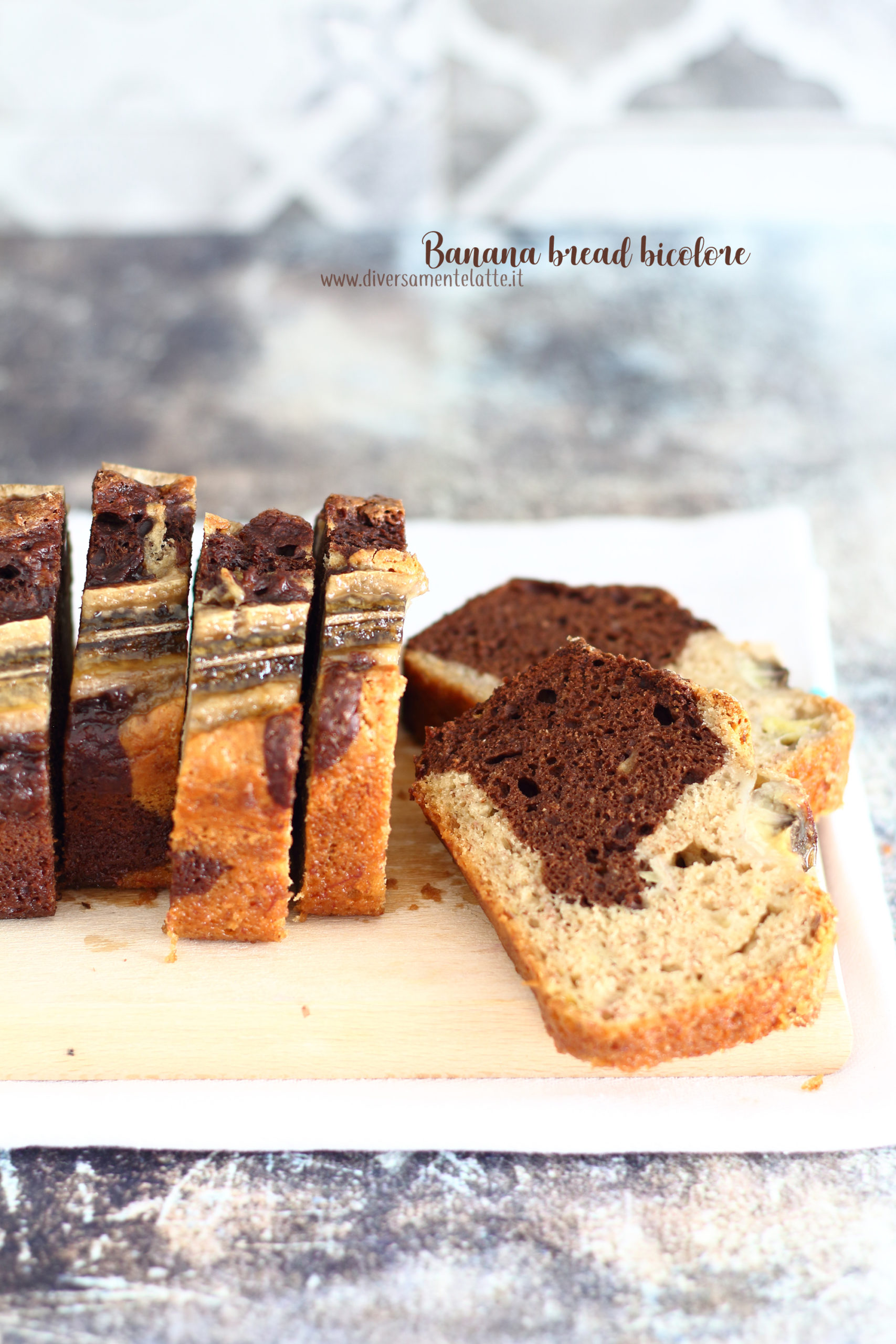 banana bread bicolore