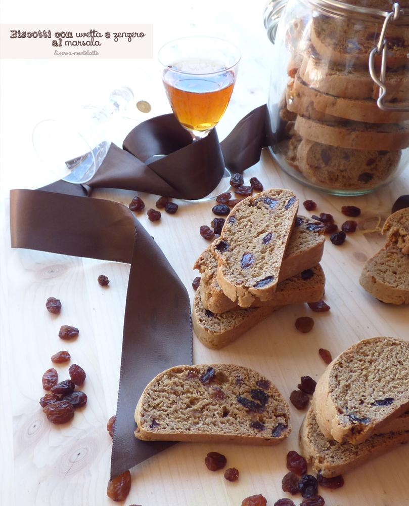 biscotti con uvetta e zenzero