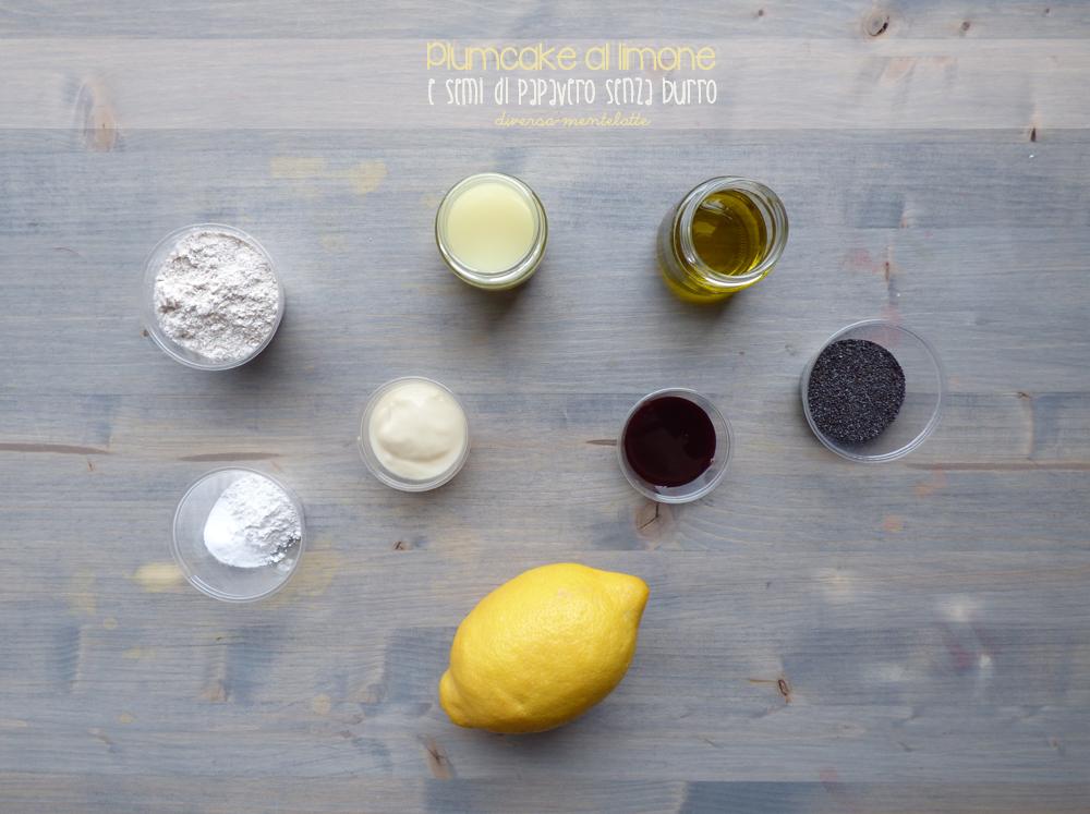 ingredienti plumcake al limone senza burro