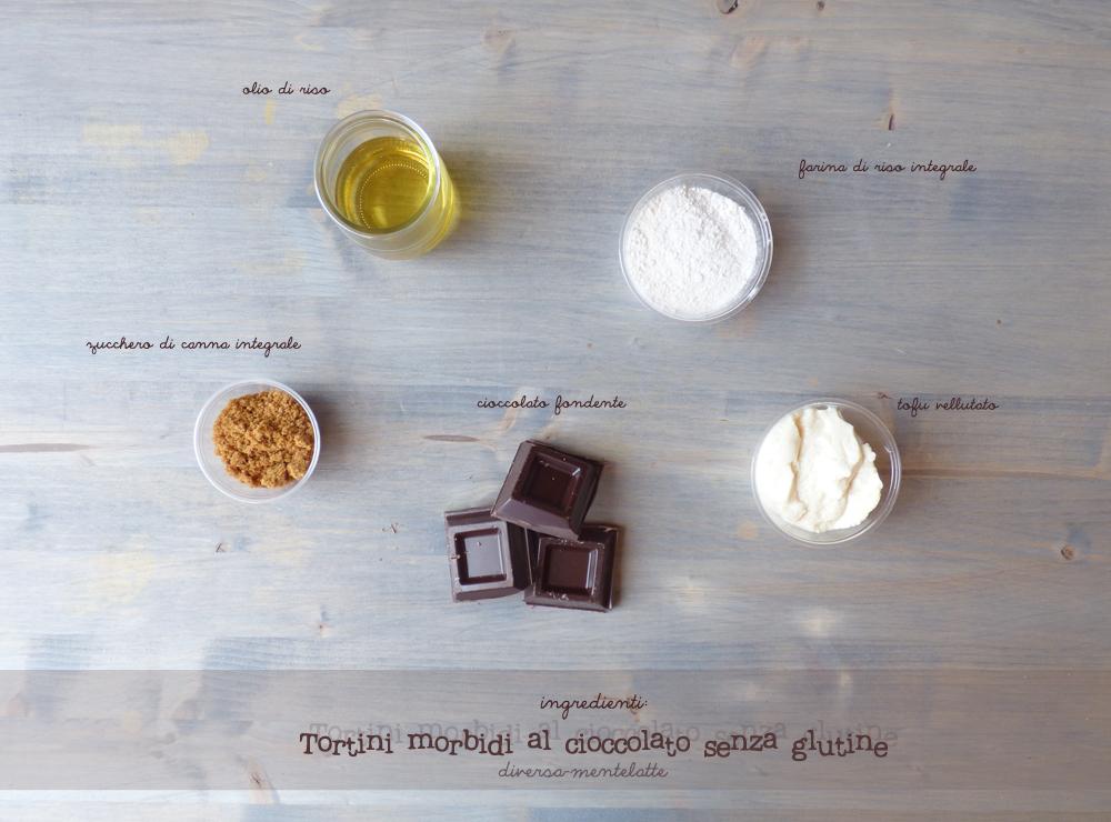 ingredienti tortini morbidi al cioccolato senza glutine