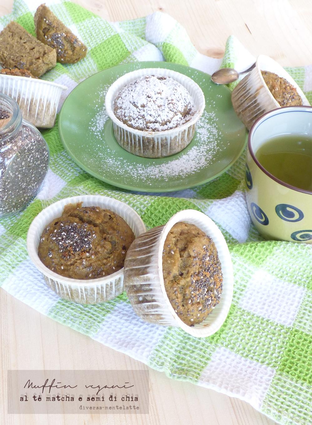 muffin vegani al tè matcha