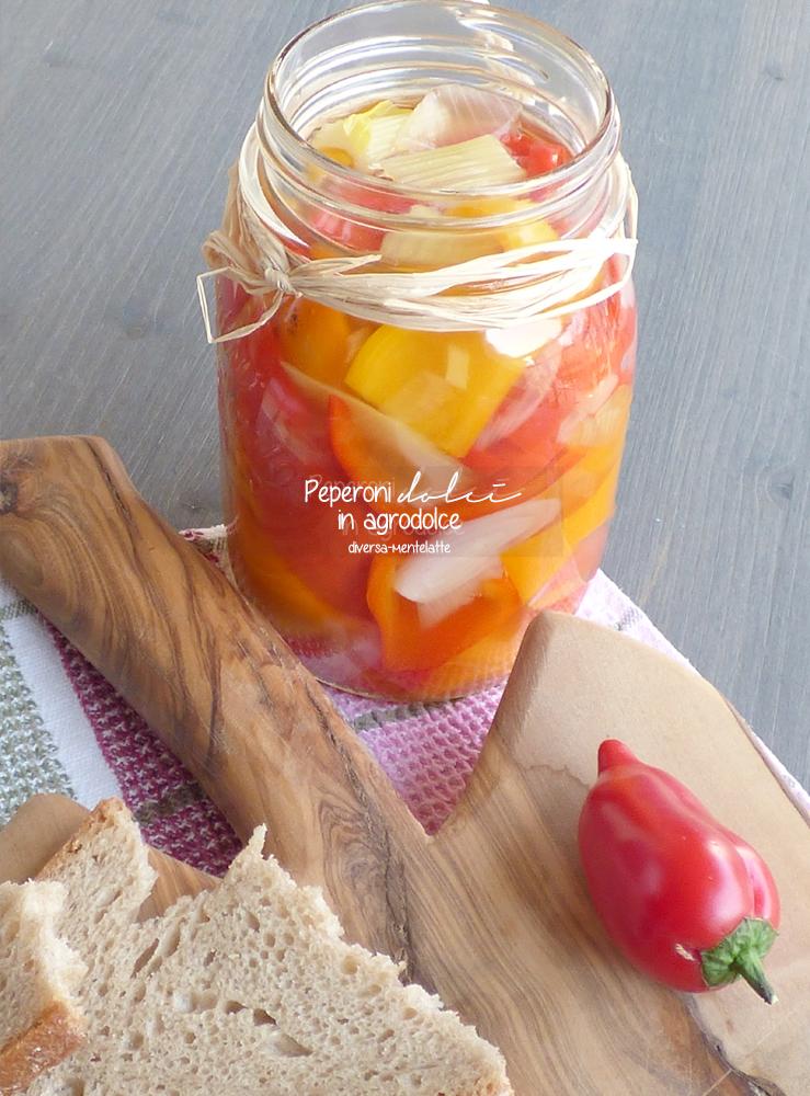 peperoni dolci in vasetto
