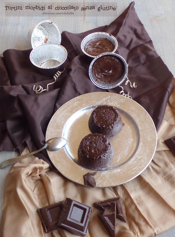 tortini morbidi al cioccolato senza glutine
