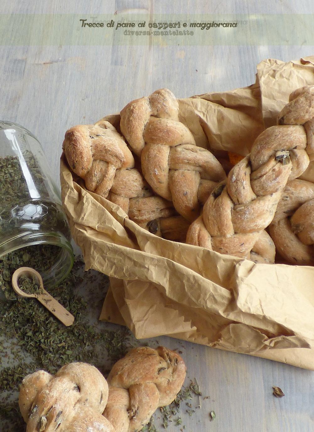 Trecce di pane ai capperi