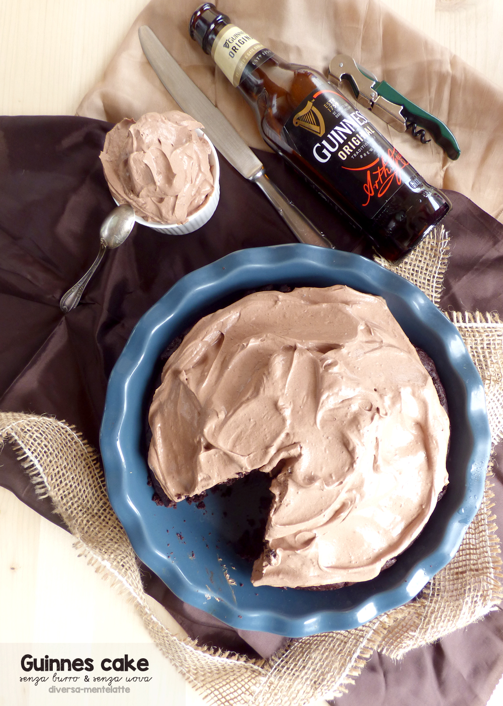 guinnes cake senza lattosio