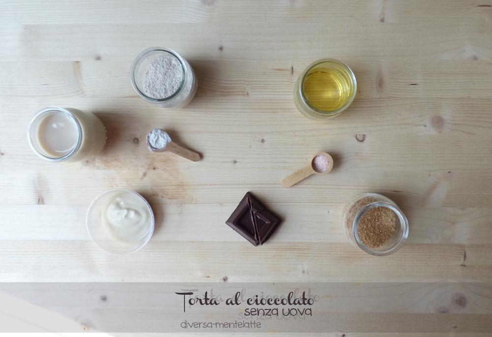 ingredienti torta al cioccolato senza uova