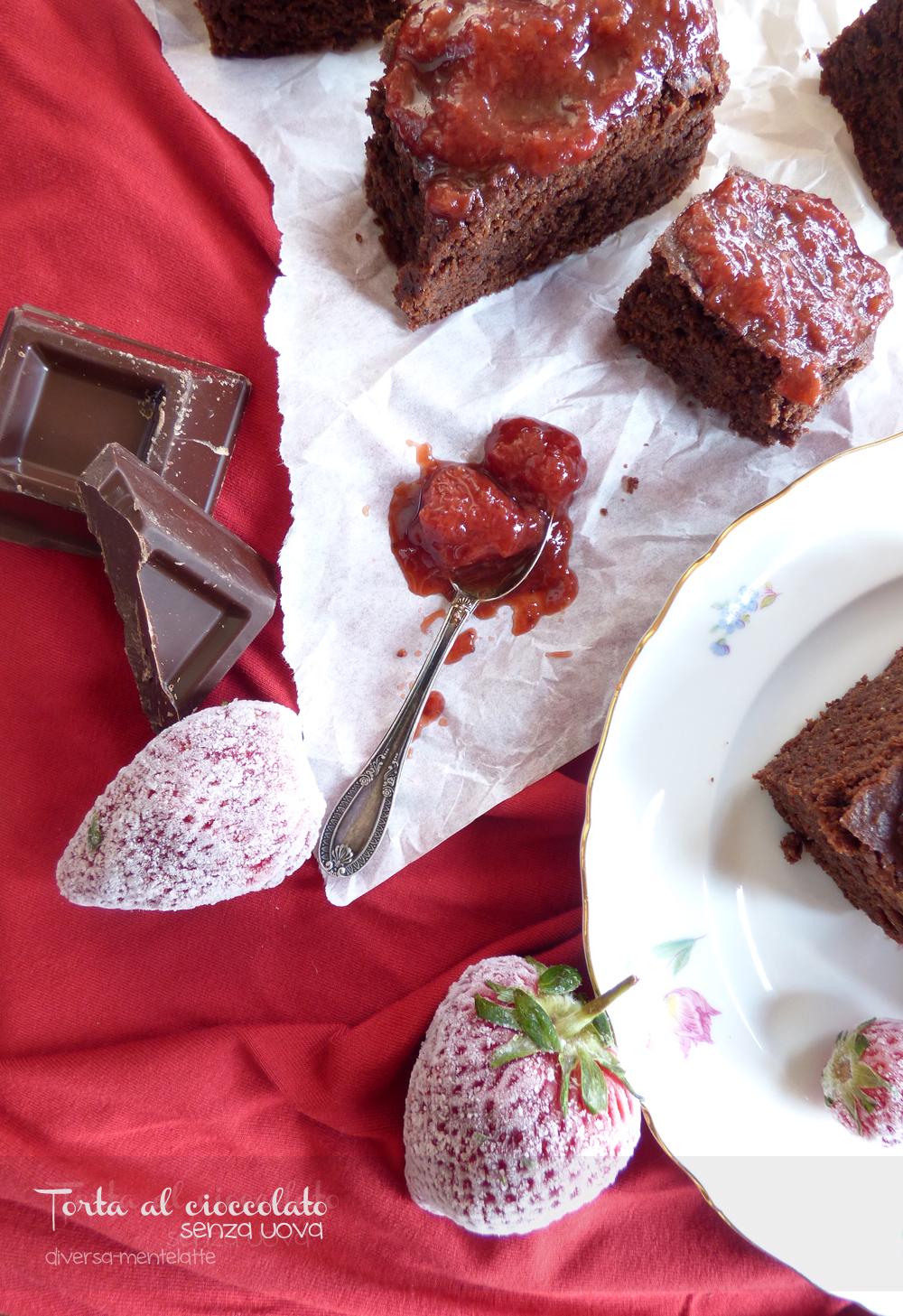 torta al cioccolato senza uova e senza burro
