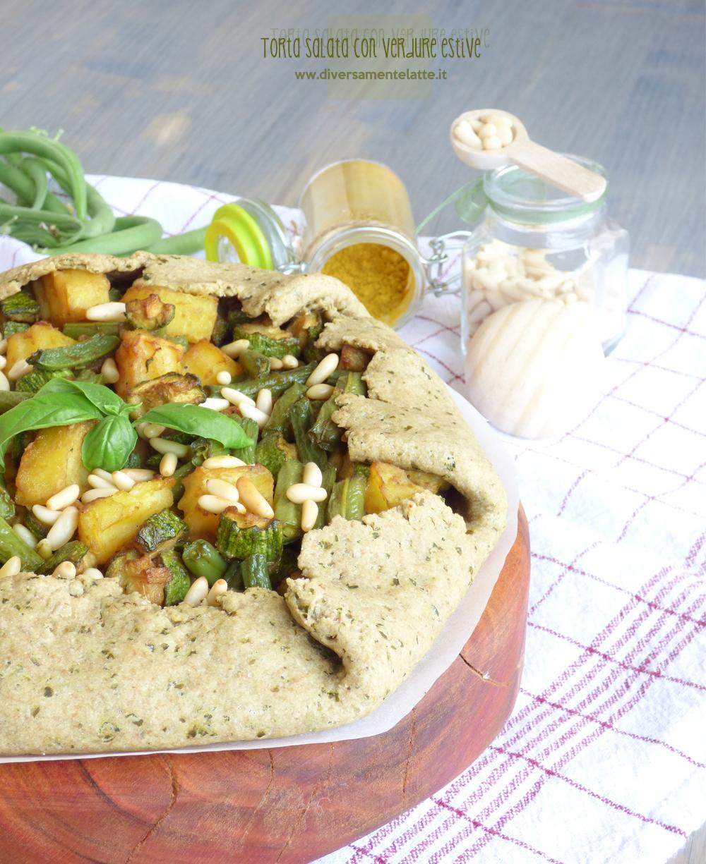 torta salata con verdure estive senza burro