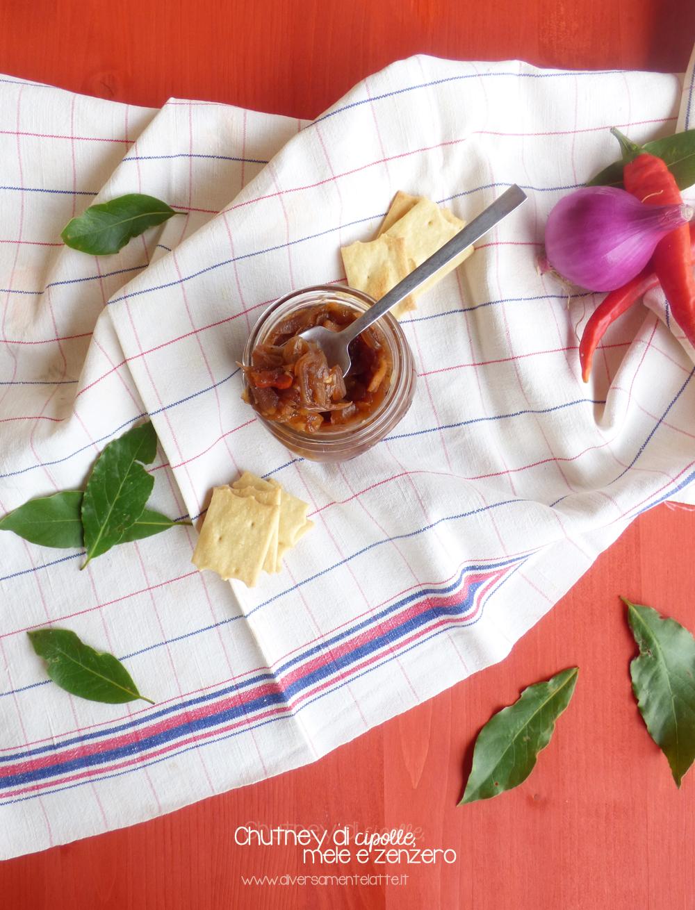chutney di cipolle mele e zenzero
